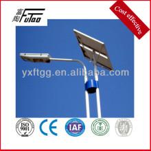 Poste caliente redondo de las luces solares del acero de la venta