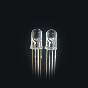 Clavijas cortas LED RGB superbrillantes transparentes de 5 mm