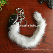Luxury Natural Fur Keychain With Mink Fur,Mink Fur Tail