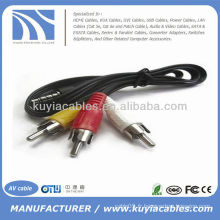 Câble adaptateur AV à 3 RCA Audio Video Jack