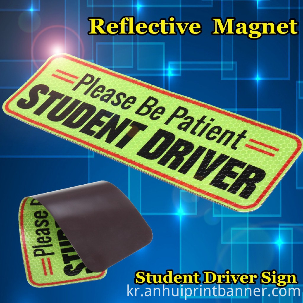 new driver magnet sticker
