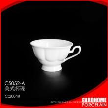 plato y taza de vajilla porcelana china 200 ml por mayor de estampado