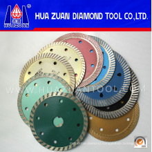 Colorful 105-400mm Cold Pressed Turbo Cutting Blades for Sandstone Granite Marble
