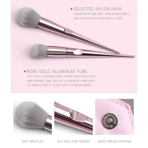 10 hochwertige Roségold Make-up Pinsel