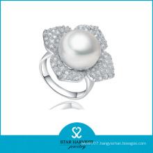 Wholeslae Sterling Silver Pearl Ring (SH-J-0102R)