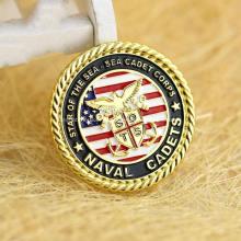 Pièce de défi militaire de haute qualité faite sur commande en métal d'or