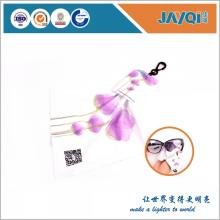 Paño limpio de Sunglass de la microfibra con el llavero