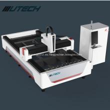 Máquina de corte de metales por láser de fibra para acero inoxidable.