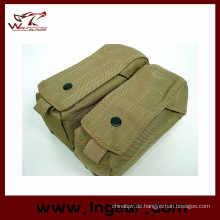 Militärische Airsoft taktische Molle Doppel Ak Magazintasche