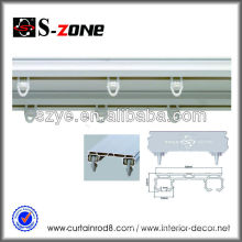bay window vertical roller blind side curtain track, industrial rails, wall hanging track