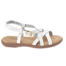 Strappy Style White Leather Casual Sandals