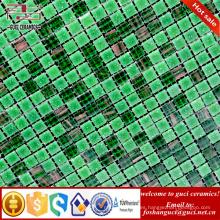 La fábrica de China suministra el azulejo de piso mezclado verde Caliente - derrite el azulejo de mosaico