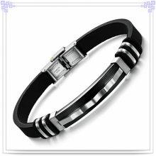 Stainless Steel Jewelry Rubber Bracelet Silicone Bracelet (LB239)