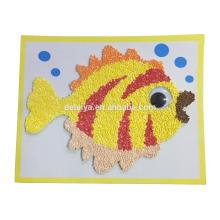 Various DIY EVA Foam Particles Sprinkle Art Toys for Kids