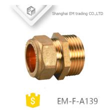EM-F-A139 Conexión de tubería de adaptador de conexión rápida de latón recto idéntico