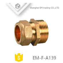 EM-F-A139 encaixe de tubulação do adaptador de conexão rápida de latão reto Igual