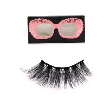 DL029 Hitomi wholesale false eyelashes free sample silk eyelashes double layer private label 25mm silk eyelashes
