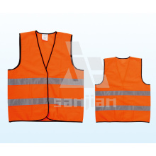 Jy-7011 100% Polyester Hoch sichtbare Sicherheitsweste, Weste mit hoher Sichtbarkeit