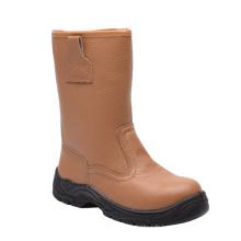 Style Casual Brown fractionner les bottes de sécurité cuir embossé (HQ05075)