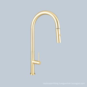Sink wash basin switch handle golden telescopic faucet