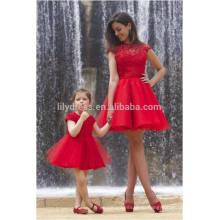 Бесплатная доставка Красный короткий Пром платье высокая шея Cap рукавом сексуальная видеть сквозь открытой спиной шикарное импортное платье ML112