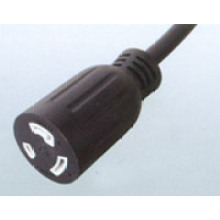 Cable de corriente AC de UL de Estados Unidos de América