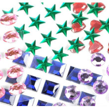 customied good price self adhesive pearls and rhinestone stickers