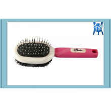 Grooming Combination Bristle and Metal Pin Brush