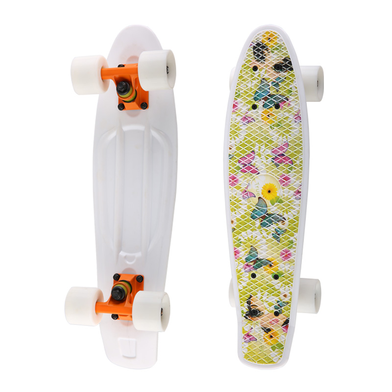 Heat Transfer Graphic Design Small Plastic Penny Skateboard