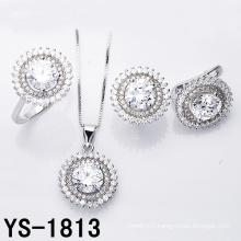 Jewelry Set Fashion Rhodium Plated Wedding Silver Jewellery.