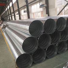 Galvanized malaking kalibre spiral pipe air duct