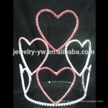 Pulsera de cristal única de la tiara de la corona de la tiara del desfile del corazón de Hotsale para las muchachas