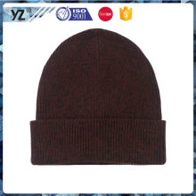 Latest product simple design fashion lady knit hat from China
