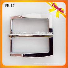 PB12 Boucle de ceinture en métal argenté personnalisé / boucle de ceinture de mode / boucle de ceinture en cuir 35mm