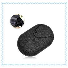 Esponja de konjac de carvão ativado de bambu 100% puro com preço de fábrica Esponja de konjac para limpeza de rosto