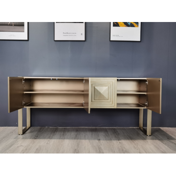 Antikes Gold Long Sideboard MDF-Schrank