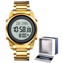 Skmei 1734 azan watch prayer watches men wrist qibla montre muslim digital men watches wristwatch