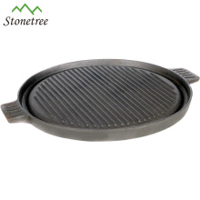 New Pre-seasoned Flat Round Pizza Plate Cast Iorn Pizza Pan