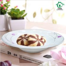 Placa de cena de cerámica china elegante fina porcelana