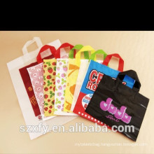 Customized wholesale carrier plastic shopping bags handles