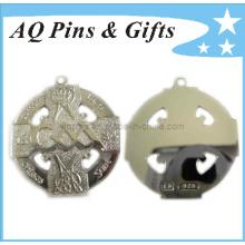 Medallón de plata de ley en recorte