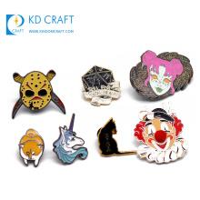 Custom design metal glitter soft enamel lapel pin badge