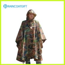 Прочный Армия камуфляж дождь пончо Rpy-019