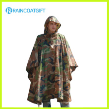 Durable Army Camouflage Rain Poncho Rpy-019