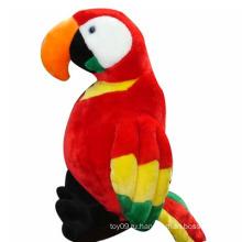 Наполненный зверек Птица Красный попугай