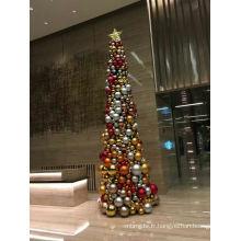 Arbre à billes de Noël géant d'intérieur de 5 m