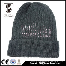Wholesale Cheap Plain 100% Acrylic Free Pom Beanie/Knitted cap