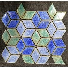 Mediterranean Style Color Mixture Glazed Surface Tiles Ceramic Mosaic