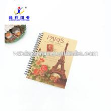 Dernier cahier à spirale de vente chaude populaire, cahier à spirale