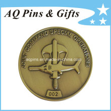 Moneda conmemorativa única del cobre de la antigüedad del metal de la venta de la fábrica (coin-080)